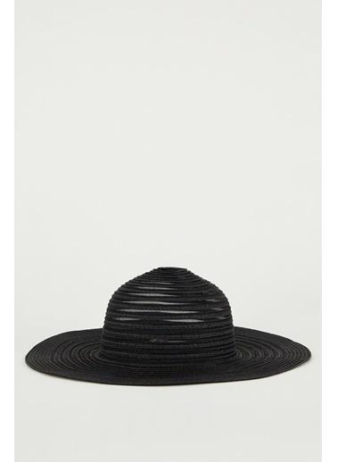 DeFacto Hasır Şapka Siyah